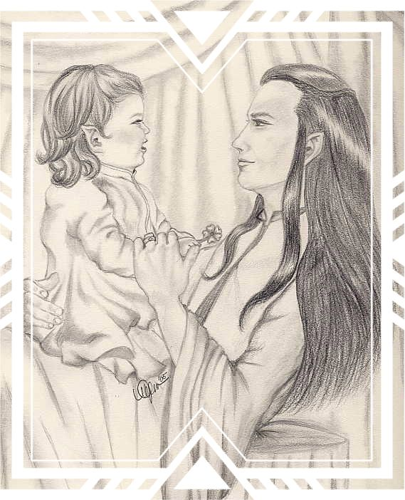 Baby Arwen and Ada Elrond by Mei.